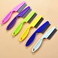 SUNXIN 1 Pcs Brush for Pets Dogs and Cats Flea and Lice Comb Pet Cleaning Brush Color Random