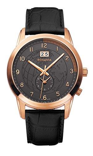 Rodania–World Star Reloj de hombre, color negro Diámetro 43mm
