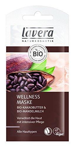 lavera Wellness Maske Bio Kakaobutter ∙ Intensive Pflege ∙ Alle Hauttypen ∙ Maske Feuchtigkeit ∙ vegan ✔ Bio Pflanzenwirkstoffe ✔ Naturkosmetik ✔ Natural & innovative ✔ Gesichtspflege 15er Pack (15 x 8 ml) - Hauttypen Feuchtigkeit Maske