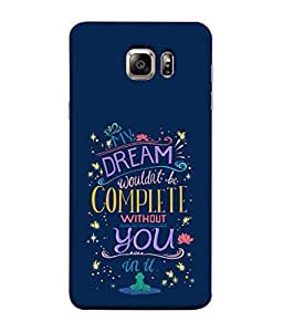 PrintVisa Designer Back Case Cover for Samsung Galaxy S6 G920I :: Samsung Galaxy S6 G9200 G9208 G9208/Ss G9209 G920A G920F G920Fd G920S G920T (Romantic Message Dreams Stars Flowers)