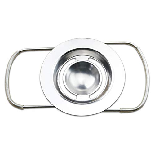 -Separator, Eiersieb Premium Edelstahl Egg Separator, Küchenwerkzeug Bequeme Trenner Halter Sieb ()