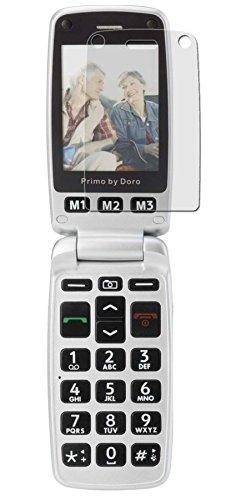Doro Primo 413 - 3x Anti-Shock Bildschirmschutzfolie - seidenmatte Premium Folie Antireflex - Antifingerprint - Schutz Folie - Schutzfolie