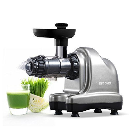Extracteur de Jus BioChef Axis Cold Press Juicer - Extracteur Masticateur Horizontal pour...