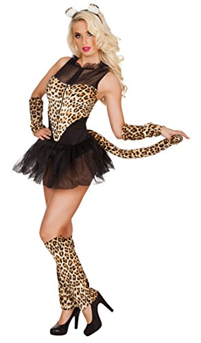 Karnevalsbud Damen Leoparden Kleid, Kostüm, Karneval, Fasching, L/XL, ()