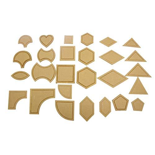 KATURN 27 Sets Acryl Stitching Tuch Transparent Schablone DIY Handarbeit Patchwork Nähen Stoff Quilting Werkzeug Nähzubehör Quilting Werkzeug Zubehör