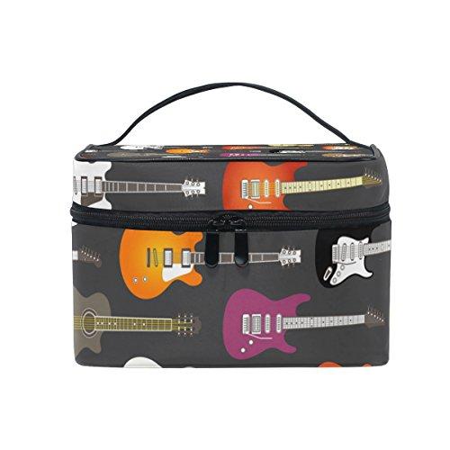 COOSUN - Neceser de lona para cosméticos, diseño de guitarras eléctricas, con...