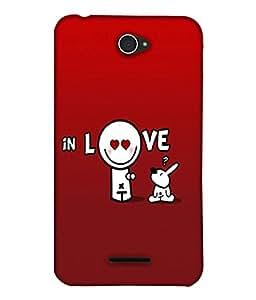 Fuson Love Back Case Cover for SONY XPERIA E4 - D3964