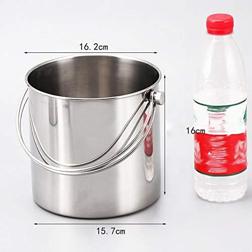 MYYDD Edelstahl Eiskübel, Metall-Großraum Ice Bowl Bar Beer Barrel Getränke Tub Champagne Wein-Kühler Eimer,L