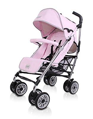 Baby Luxe 3022000200004 - Silla de paseo, chasis brillo, base piel rosa