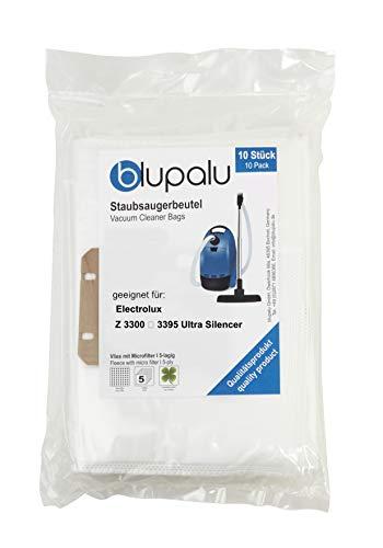 blupalu I Staubsaugerbeutel für Staubsauger Electrolux Z 3300 ... 3395 Ultra Silencer I 10 Stück I mit Feinstaubfilter