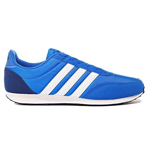 Adidas Herren V Racer 2.0 Schuhe, blue-footwear white-mystery blue (BC0107), 46 2/3 EU (Kunststoff Schuh Boxen)
