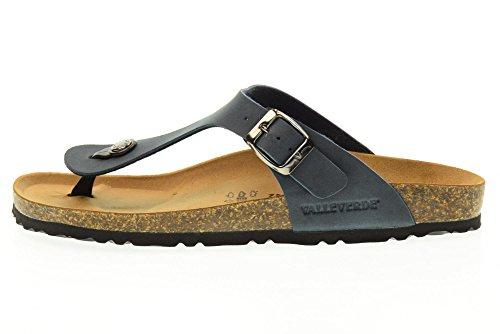 VALLEVERDE Unisex-Flip-Flops Schuhe G51830 BLUE (41-45) Blau