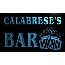 w003816-b CALABRESE'S Nom Accueil Bar Pub Beer Mugs Cheers Neon Sign Biere Enseigne Lumineuse