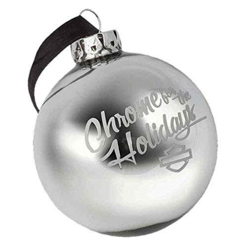 9be25a9cd8326 HARLEY-DAVIDSON Winter Chrome pour Les Vacances Boule Ornement