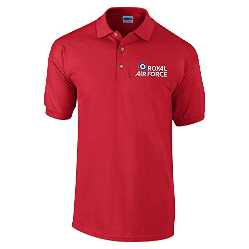 Royal Air Force Herren Poloshirt Rot