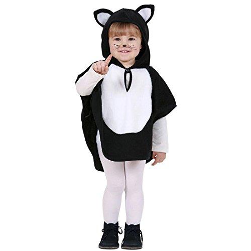 zen Kostüm Katzenkostüm Kinder 110 cm 3-4 Jahre Kinderkostüm Katze Babykostüm Mieze Baby Poncho Kätzchen Tierkostüm für Mädchen ()