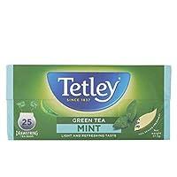 Tetley Drawstring Mint Green Tea, 37.5 g