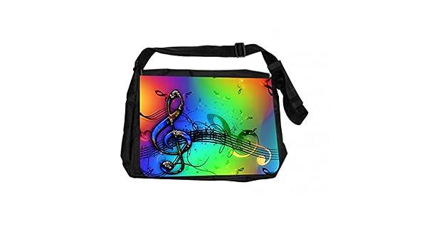 Jacks Outlet JOI-MB-32 TM Messenger Bag Colorful Clef Musical Design