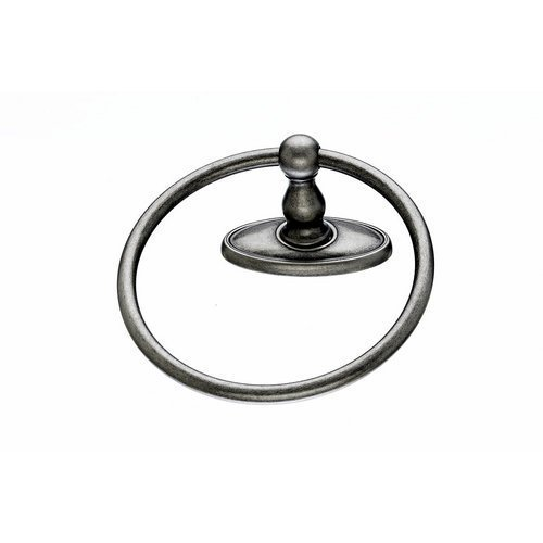 Top Knobs ED5C Edwardian Bath Towel Ring Oval Backplate, Antique Pewter by Top Knobs - Oval Knob-backplate