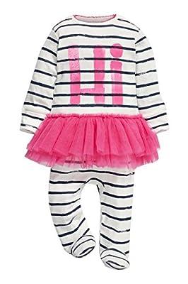 next Bebé Niña Pijama De Una Pieza Pelele De Algodón Estampado Hi Con Tutú En La Cintura