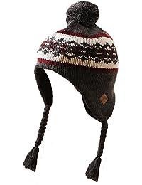 Mens Unisex Tokyo Laundry Knitted Winter Warm Pom Pom Bobble Fur Hat Cap Beanie