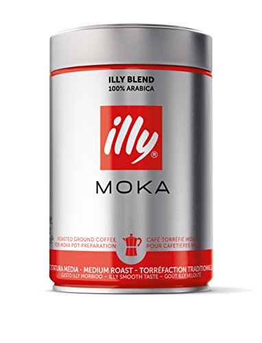 illy Moka Ground Coffee Medium Roast, 250 g 41UNxB7XldL