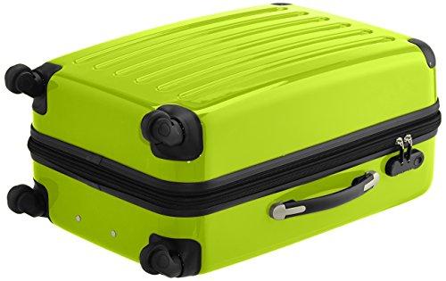 HAUPTSTADTKOFFER - Alex - 2er Koffer-Set Hartschale glänzend, 65 cm, 74 Liter, Graphit-Schwarz Apfelgrün-Cyanblau