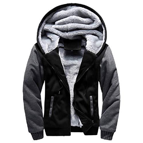 CuteRose Mens Solid Colored Fleece Cardigan Zip Up Hood Sweatshirt Hoodies AS1 XL (Hoodie Zip-up Disney)