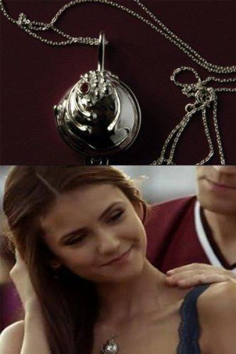 The Vampire Diaries Elena Gilbert Halskette Medaillon 925 Silber-Version