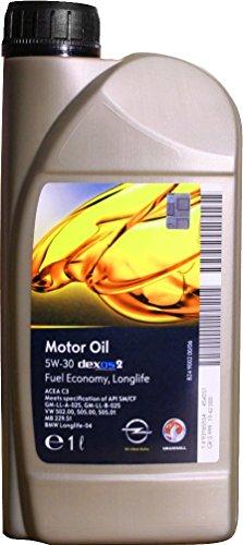 Olio-motore-GM-Genuine-5W-30-5W30-Dexos-2-General-Motors-1-litro-2-litri-3-litri-4-litri-5-litri-6-litri-quantit-desiderata-per-motori-GM-Opel-Lubrificante-sintetico-per-OPEL-VECTRA-A-2-volumi-Coda-sp