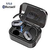 Auriculares Inalámbricos Bluetooth 5.0 TWS Estéreo In-Ear Deportivos Auriculares Micrófono Incorporado 80H Tiempo Espera IPX5 Mini Twins Auriculares con Caja de Carga para iPhone Android