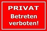 Melis Folienwerkstatt Aufkleber – Privat - Betreten Verboten - 15x10cm – S00074-D +++ in 20 Varianten