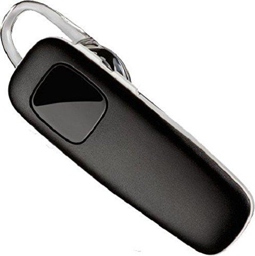 Auricular - auriculares de oído - montaje encima de la oreja - inalámbrico - Bluetooth - negro, banda blanca