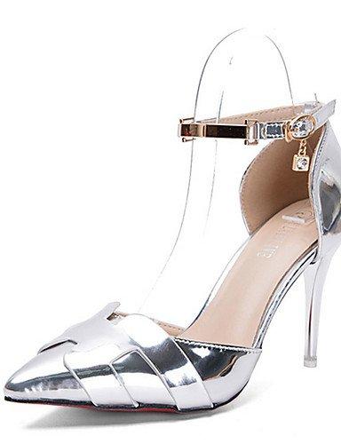 WSS 2016 Chaussures Femme-Décontracté-Noir / Rouge / Argent-Talon Aiguille-Talons-Chaussures à Talons-Polyuréthane silver-us6 / eu36 / uk4 / cn36