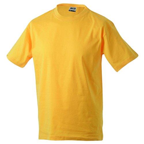 JAMES & NICHOLSON T-shirt comfort in single jersey 180g gold-yellow