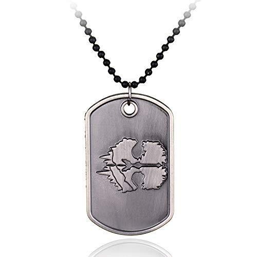 IMIKE Call of Duty PS4 Games Limited Edition Cod Ghosts Dog Tag Halskette Anhänger tolle Kollektion Schmuck Punk Rock Accessions Ornamente Geschenke für Männer und Frauen (Halskette Call Of Duty)