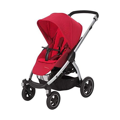 Bébé Confort Stella, Poussette Tout-Terrain, Maniable et Pratique, de la Naissance à 3,5 ans (0-15kg), Vivid Red