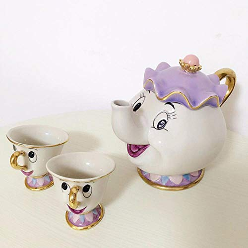 HHOME chip Tea Pot Cup one Set Nice Gift for Friend Old Style Cartoon teapot Mug,3 Old Style Bier