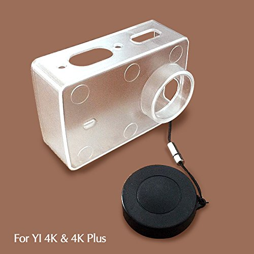 Galleria fotografica Imusk protezione della pelle per Xiaomi Yi 4K e 4K Plus Action Camera accessori copertura trasparente con copriobiettivo per Xiao Yi 4K/4K + Cam
