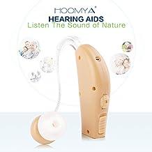 HOOMYA Alta Calidad Recargable Detrás del Amplificador Auditivo del oído, Ayudar el Auditivo de los Ancianos & Gente Sorda & Pérdida Auditiva