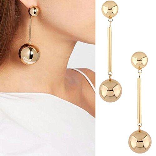 Bijoux Femmes, Toamen Boucles d'oreilles bijoux Longue chaîne Drop Dangle Boucles d'oreilles Bling Ball Mode Nouveau