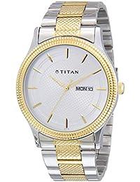 Titan Octane Analog Silver Dial Men's Watch NM1650BM03 / NL1650BM03