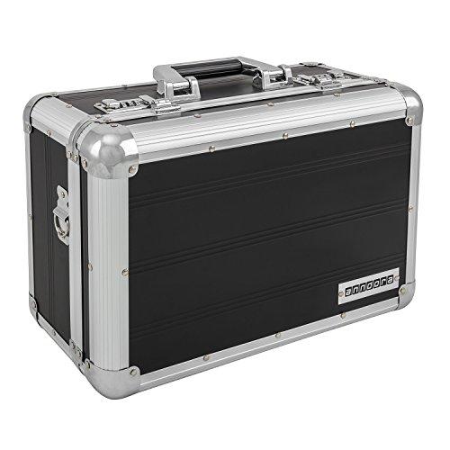 anndora Fotokoffer schwarz Kamerakoffer 12 Liter mit Gurt Zahlenschlösser