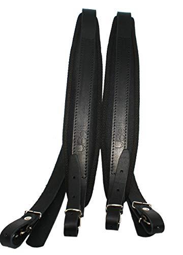 Akkordeon Gurt Leder Hochwertige 6cm Schulterriemen max bis 120 Bass