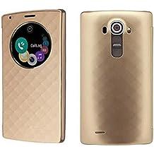 LG G4 Funda, Aimson Smartphone LG Reemplazo Círculo Rápido Funda Trasera con carga inalámbrica Qi Con NFC (oro)
