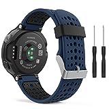 SUPORE Garmin Forerunner 235 Bracelet Watch Band Flexible en Impression Silicone avec des Outils pour Forerunner 235/220/230/620/630/735 Montre de Running GPS avec Cardio au Poignet