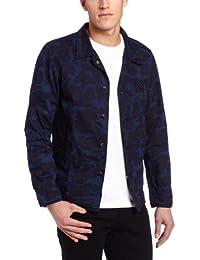 f1cb260cb2524 SCOTCH AND SODA - Blousons - Homme - Veste bleue à motif camouflage pour  homme