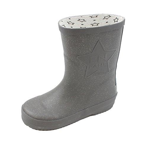 EnFant unisexe, bottes de pluie en caoutchouc, noir, 815110-00 Gris titane