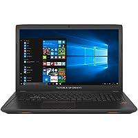 """ASUS GL753VD-GC017T - Portátil de 17.3"""" (Intel Core i7-7700HQ, RAM de 32 GB, 1000 GB HDD, SSD de 256 GB, NVIDIA GeForce GTX 1050 de 4 GB, Windows 10) plástico negro - Teclado QWERTY Español"""