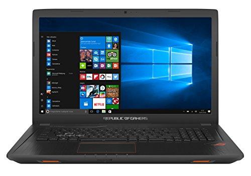 """ASUS GL753VD-GC014T - Portátil de 17.3"""" (Intel Core i7-7700HQ, RAM de 16 GB, 1000 GB HDD, SSD de 128 GB, NVIDIA GeForce GTX 1050 de 4 GB, Windows 10) plástico negro - Teclado QWERTY Español"""